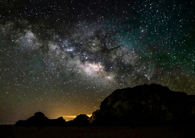 Milky Way in Wadi Rum desert