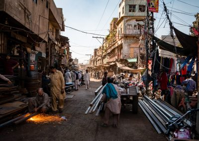 Blacksmiths street in Lahore